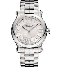 Chopard 278559 3002 Happy Sport Stainless Steel And Diamond Watch