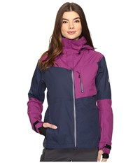 686 Glcr Soltice Thermagraph Jacket Midnight Blue Color Block Women's Coat Green