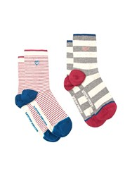 White Stuff Fleck Stripe 2 Pack Multi