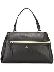 Hogan Gold Tone Hardware Tote Black