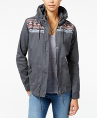 Roxy Winter Cloud Hooded Military Jacket Oxford