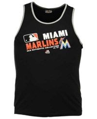Majestic Men's Miami Marlins Authentic Collection Choice Tank Top Black