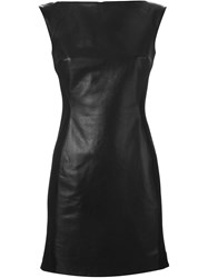 Gareth Pugh Fitted Leather Dress Black