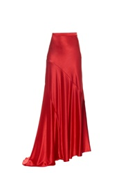 Osman Nysa Bias Cut Satin Maxi Skirt