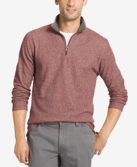 Izod Men's Textured Quarter Zip Sweater Andorra