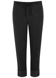 James Perse Charcoal Cropped Linen Trousers