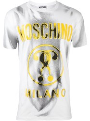 Moschino Double Question Mark T Shirt White
