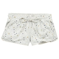 Fat Face Chute Star Pyjama Shorts Grey Marl