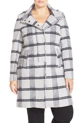 Plus Size Women's Carmakoma Brushed Plaid Coat