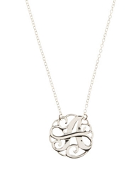 Lord And Taylor Sterling Silver A Initial Pendant Necklace