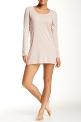 Only Hearts Club Scoop Neck Long Sleeve Night Shirt Beige