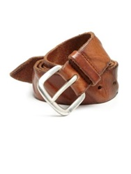 Orciani Distressed Leather Belt Light Brown