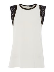 Episode Lace And Stud Top White