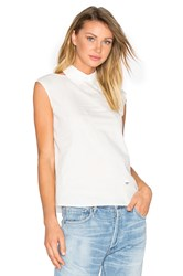 Mcq By Alexander Mcqueen Cut Out Shoulder Tank White