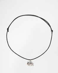 Regal Rose Kali Indian Elephant Leather Cord Choker Necklace
