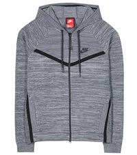 Nike Tech Knit Windrunner Cotton Blend Hoodie Grey