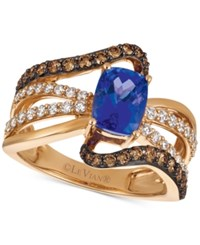 Le Vian Chocolatier Tanzanite 1 1 10 Ct. T.W. And Diamond 7 8 Ct. T.W. Statement Ring In 14K Rose Gold