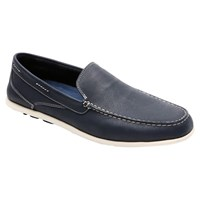 Rockport Cape Noble Three Washable Venetian Loafers Navy