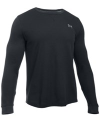 Under Armour Men's Waffle Textured Long Underwear Shirt Black