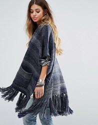 Denim And Supply Ralph Lauren By Long Cardigan With Fringing Grey