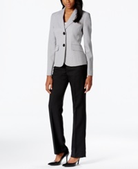 Le Suit Two Button Tweed Jacket Pantsuit