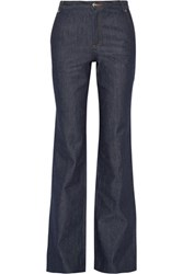 Vanessa Seward Bassette High Rise Wide Leg Jeans Dark Denim