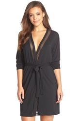 Calvin Klein 'Naked Touch' Robe Black