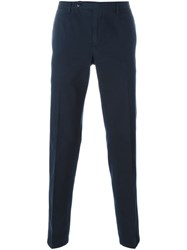 Boglioli Stretch Chino Trousers Blue