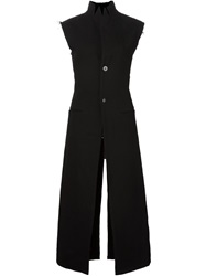 A Tentative Atelier Long Sleeveless Blazer Black