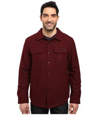 Prana Wooley Jacket Dark Umber Heather Men's Coat Red