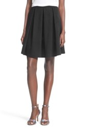 Painted Threads Pleated A Line Skirt Black