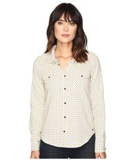 Roxy Squary Cool Long Sleeve Flannel Shirt Vichy Love Pristine Women's Clothing White