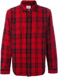 Edwin Checked Shirt Red