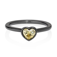Yael Joaillerie Fancy Yellow Diamond Heart Ring Gold
