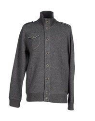 Woolrich Knitwear Cardigans Men Grey