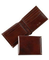 Tasso Elba Invecchiato Italian Leather Bifold Wallet Tan