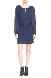 Zadig And Voltaire Women's Zadig And Voltair 'Rirate' Lace Up Blouson Dress