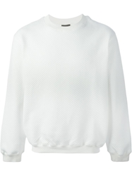 Nasir Mazhar Quilted Logo Sweater White