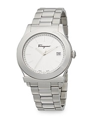 Salvatore Ferragamo 1898 Stainless Steel Bracelet Watch White