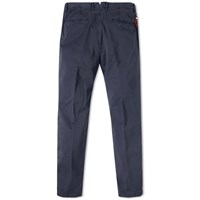 Incotex Garment Dyed Tapered Washed Chino Blue