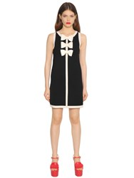 Boutique Moschino Bow Application Wool Knit Dress