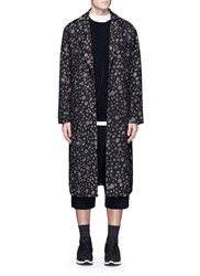 Song For The Mute 'Lunar' Moon Print Long Coat Brown