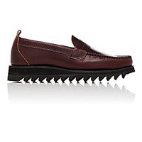 Barneys New York Men's Moc Toe Loafers Burgundy
