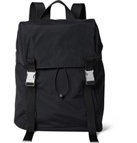 Sandro Leather And Mesh Trimmed Shell Backpack Black