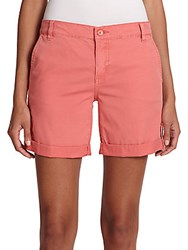 Tory Burch Peached Twill Chino Shorts Faded Elm