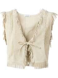 P.A.R.O.S.H. 'Muland' Waistcoat Nude And Neutrals