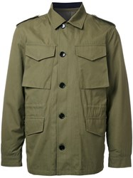 Kent And Curwen Detachable Quilt Lined Military Jacket Green