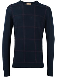 Etro Checked Jumper Blue