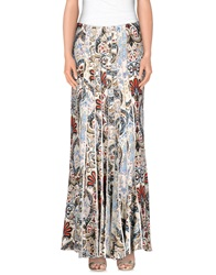 Just Cavalli Long Skirts Beige