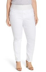 Plus Size Women's Foxcroft Pull On Stretch Slim Leg Jeans